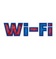 wi fi symbol free wifi vector image vector image