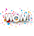 Wow paper poster vector image vector image