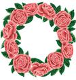 Rose wreath vector image