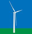 Wind turbine in the field vector image