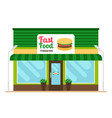 fast food restaurant store front vector image