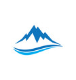 mountain wave sign logo vector image
