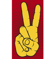 The Victory sign hand gesture vector image
