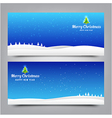 031 Merry Christmas banner Collection of greeting vector image vector image