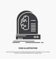 ai brain future intelligence machine icon glyph vector image vector image