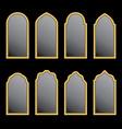 arabic window shape vector image vector image
