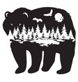 bear forest vector image
