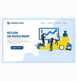 Business investment concept with people managing