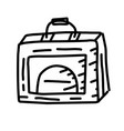 business suitcase hand drawn icon design outline vector image