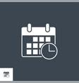 calendar related glyph icon vector image