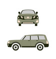 car in front and on the right flat vector image vector image