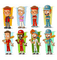 cartoon sportsmen players characters set vector image vector image