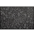 Chalkboard hand drawn doodles cartoon set vector image vector image