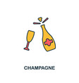 champagne icon creative 2 colors design vector image vector image
