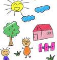 Children Doodle 3 vector image vector image