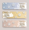 christmas big sale banners with snowflakes vector image vector image