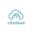 city cloud logo vector image
