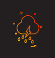 cloudy weather icon design vector image vector image