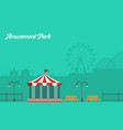collection background amusement park scenery vector image vector image