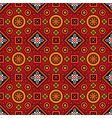 colourful ajrak pattern vector image vector image