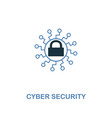 cyber security icon in two colors premium design vector image