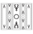 Decorative Damask Ornamented frames for walls vector image vector image
