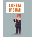 Demonstration Poster Event Stand Cute Businessman vector image vector image