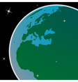 earth out of space vector image