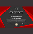 elegant red and gray certificate template vector image vector image