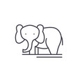 elephant line icon concept elephant linear vector image