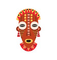 ethnic african tribal mask with huge eyes and open vector image vector image