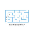 find the right way motivation banner with blue vector image