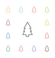 fir-tree flat icons set vector image vector image