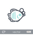 fish outline icon summer vacation vector image vector image