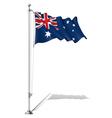 Flag Pole Australia vector image vector image