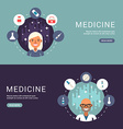 Flat Design Concept for Web Banners Medical Icons vector image vector image