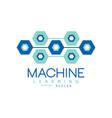 flat machine learning logo design computer vector image vector image