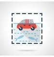 Flood flat color design icon vector image