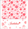 Floral card design for greeting card invitation vector image vector image