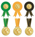 football rosettes vector image vector image