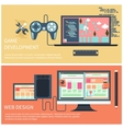 Game development and web design concept vector image vector image