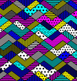 geometric patchwork pattern in bright colors vector image vector image
