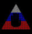 halftone russian caution icon vector image vector image