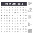 houses line icons signs set outline vector image vector image