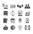 Icons set business technology design vector image vector image