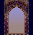 indian ornamental arch a4 format vector image vector image