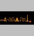 indianapolis light streak skyline vector image