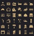 indoor icons set simple style vector image vector image