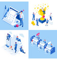 isometric business concepts businessmen and vector image vector image