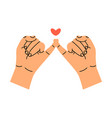 little finger making pinky promise vector image vector image